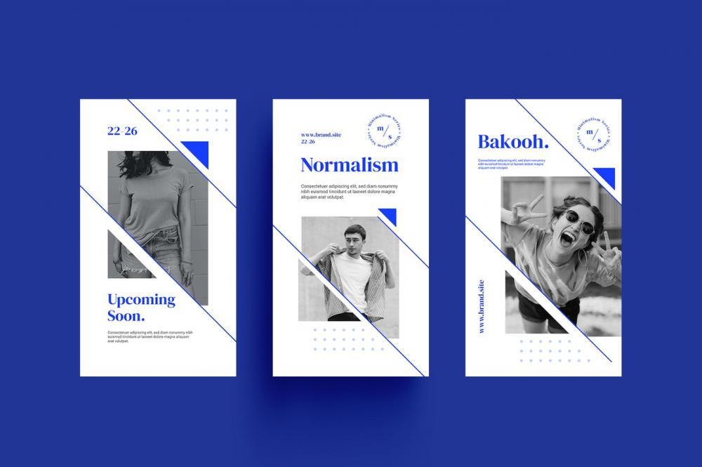 时髦高端精约专业的高品质几何图形Instagram交际媒体banner海报设计模板调集-PSD,AI,EPS,PNG插图(1)