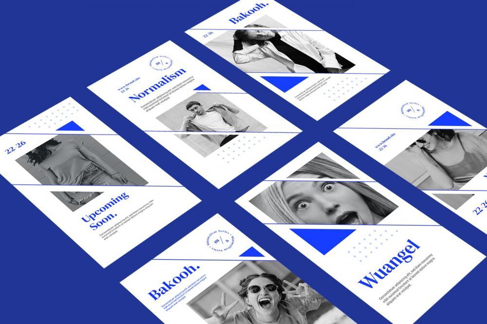 时髦高端精约专业的高品质几何图形Instagram交际媒体banner海报设计模板调集-PSD,AI,EPS,PNG插图(3)