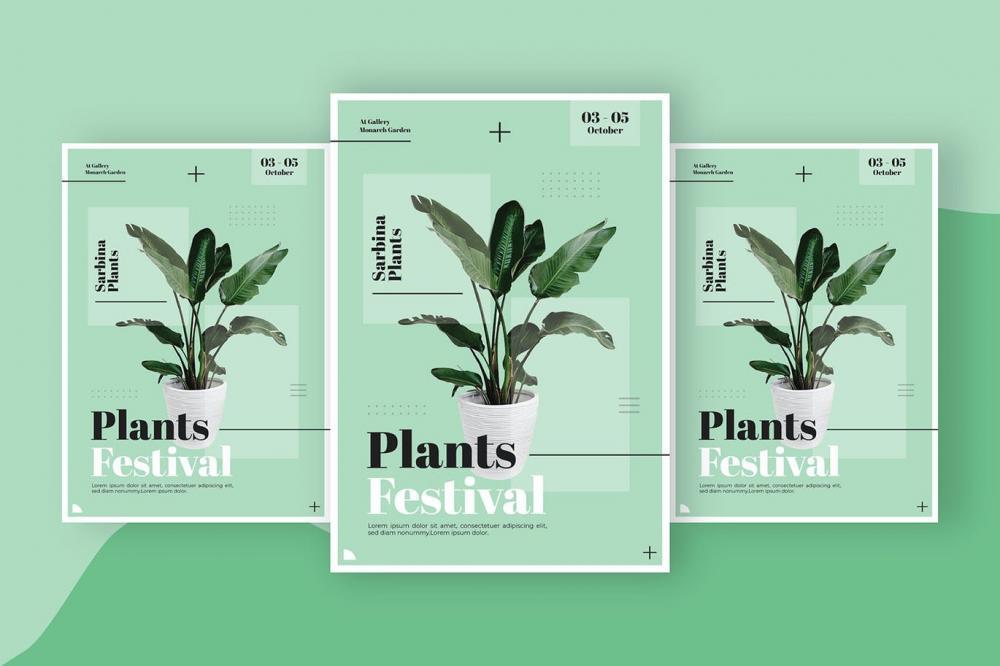 时髦高端精约新鲜时髦宣传单海报设计模板-AI,EPS,PSD插图(3)