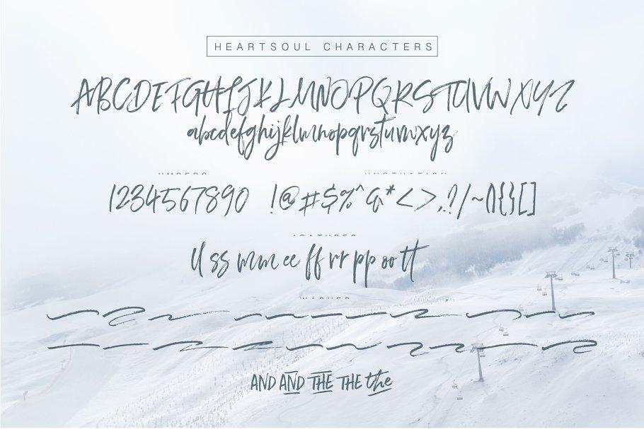 天然流通的手写字体 Heartsoul Font插图(10)