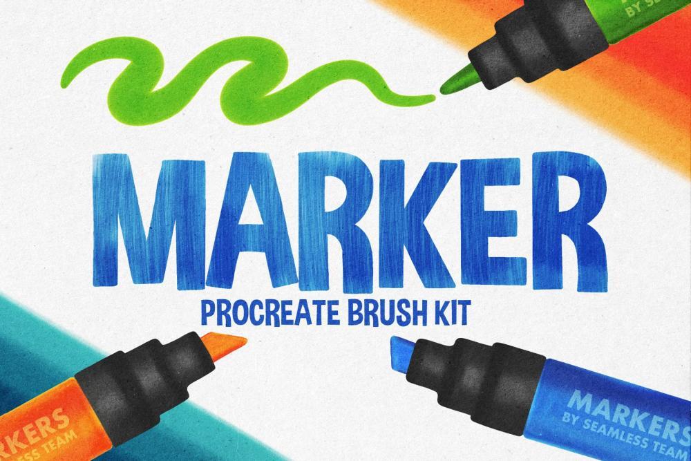 适用于Procreate使用的马克笔笔刷套装插图