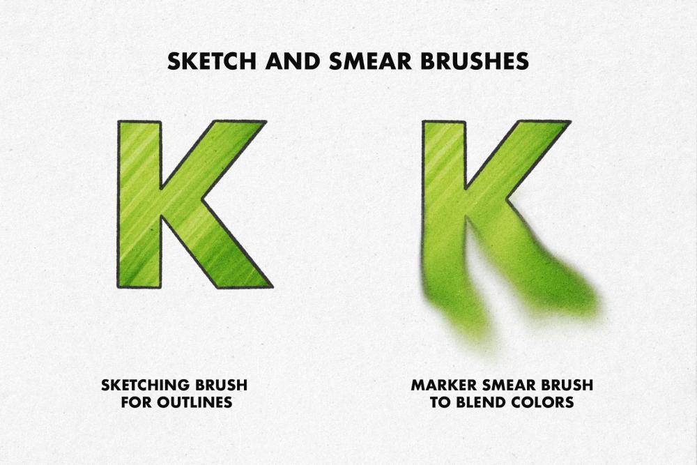适用于Procreate使用的马克笔笔刷套装插图(1)