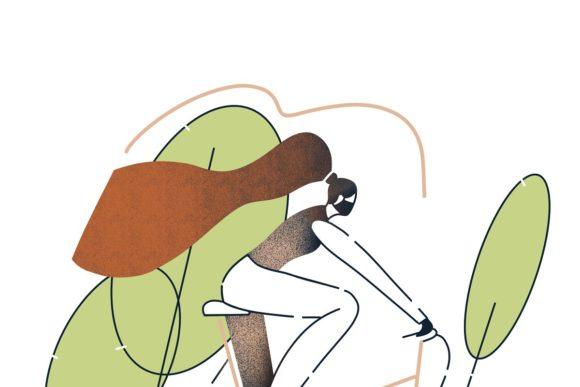 女人人物线条艺术款式Procreate笔刷插图2