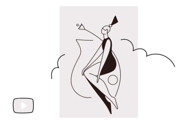 女人人物线条艺术款式Procreate笔刷插图5