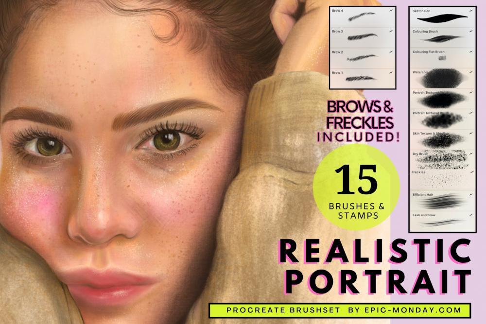 传神的人物肖像制造Procreate笔刷下载插图