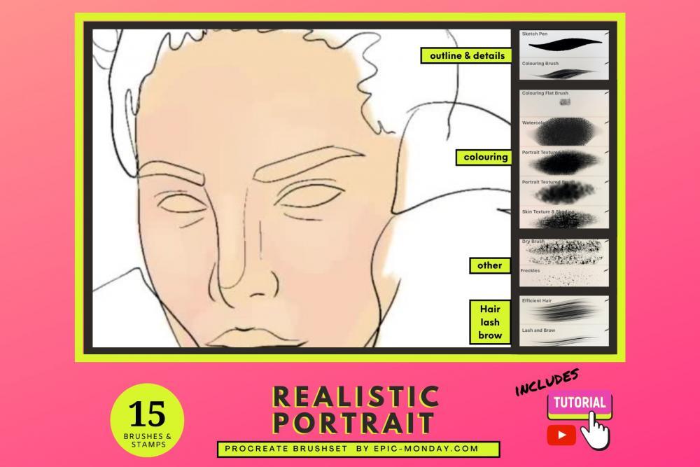传神的人物肖像制造Procreate笔刷下载插图6
