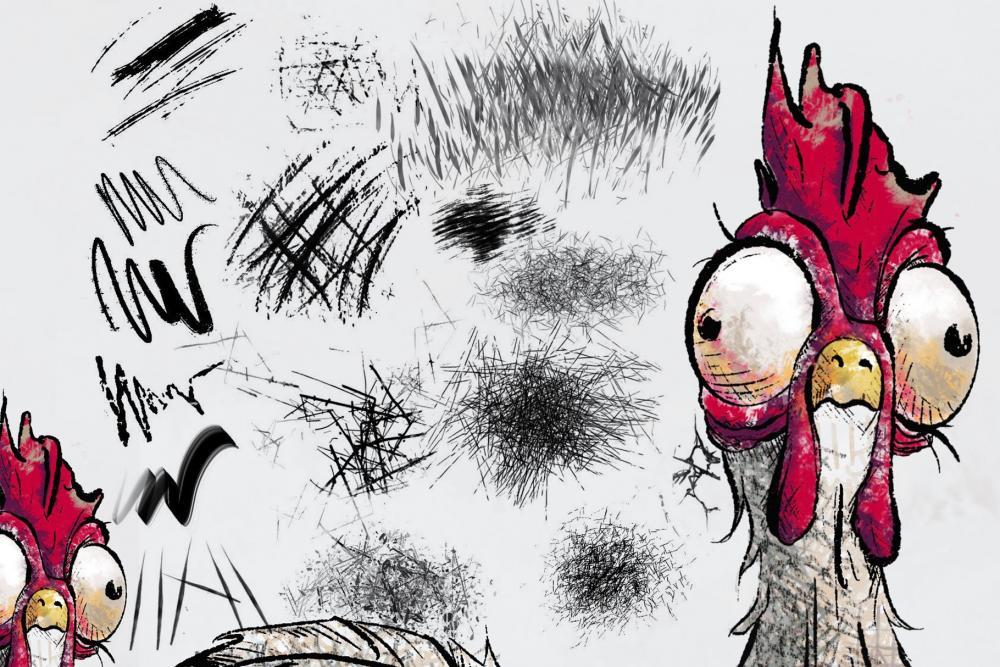鸡爪划痕纹路Procreate笔刷下载插图3