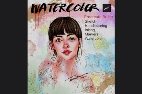 绘画艺术Procreate水彩笔刷下载插图