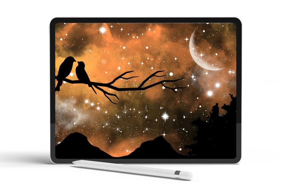 适用于Procreate的夜空梦境星系笔刷套件插图6
