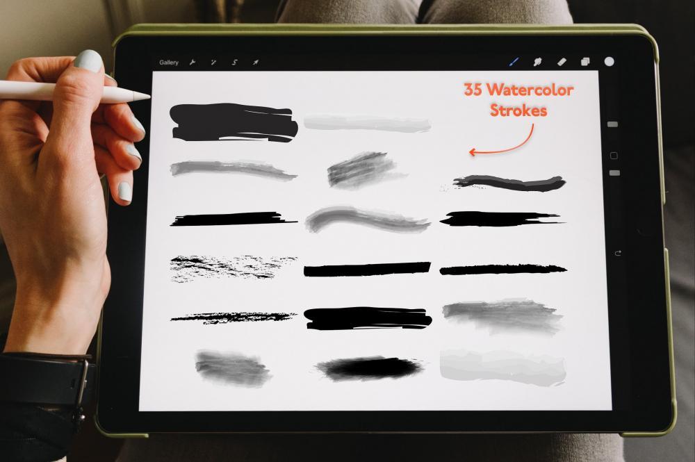 万圣节元素Procreate笔刷+大理石纹路套装插图