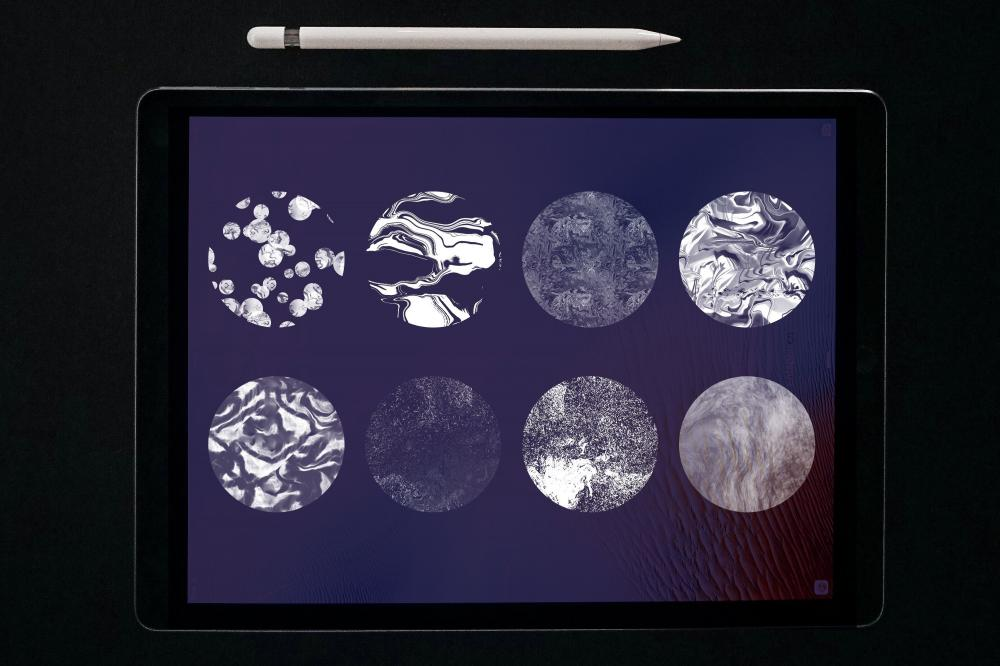 万圣节元素Procreate笔刷+大理石纹路套装插图1