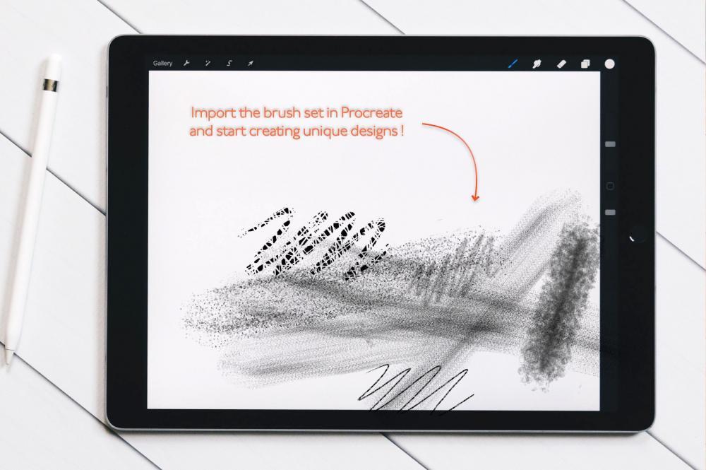 万圣节元素Procreate笔刷+大理石纹路套装插图4