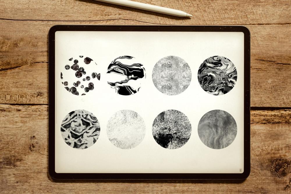 万圣节元素Procreate笔刷+大理石纹路套装插图7