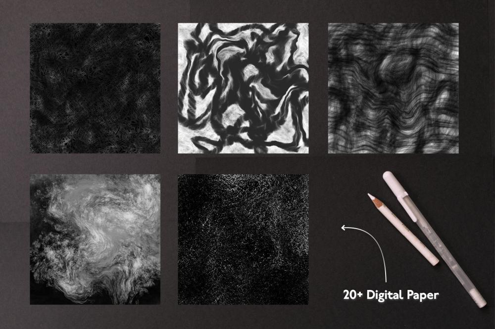 万圣节元素Procreate笔刷+大理石纹路套装插图9