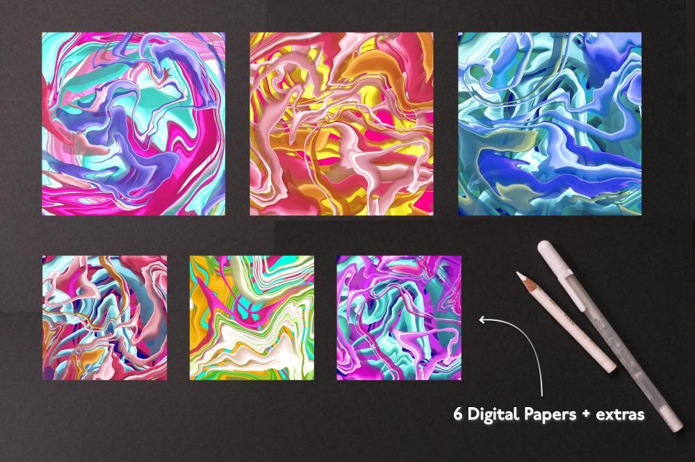 万圣节元素Procreate笔刷+大理石纹路套装插图12