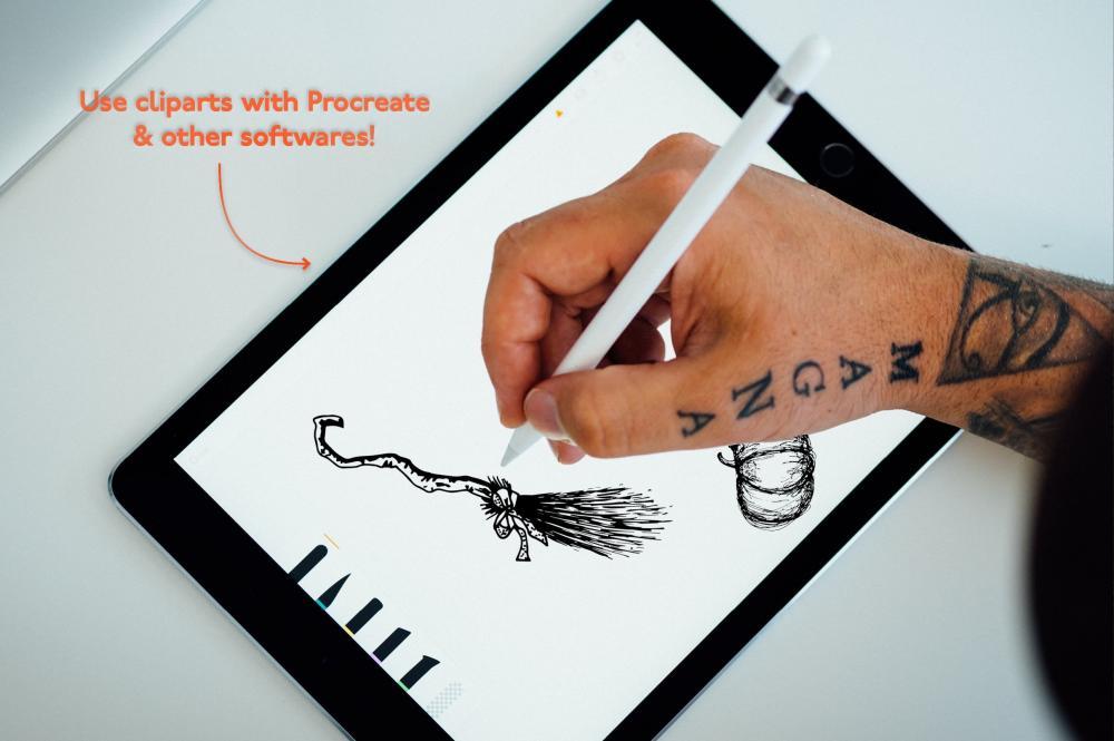 万圣节元素Procreate笔刷+大理石纹路套装插图15