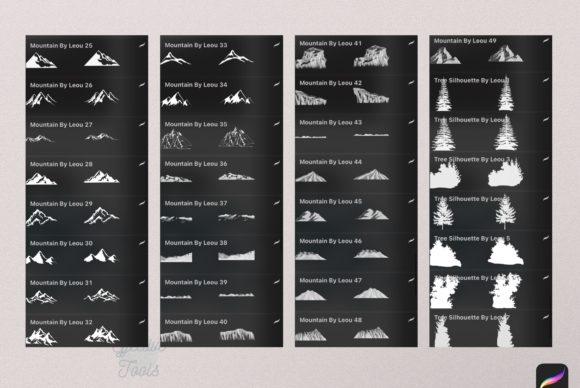 56个山峰Procreate印章笔刷资料插图2