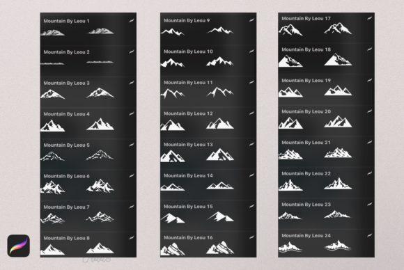 56个山峰Procreate印章笔刷资料插图3