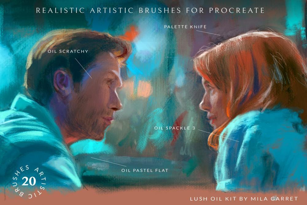 艺术油画Procreate绘画笔刷插图1