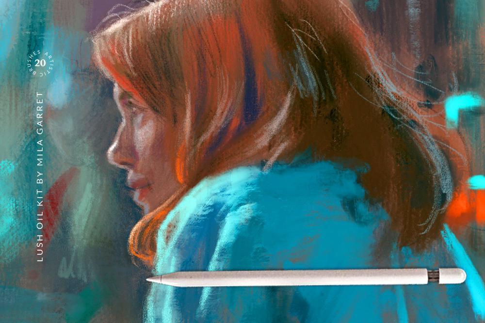 艺术油画Procreate绘画笔刷插图2