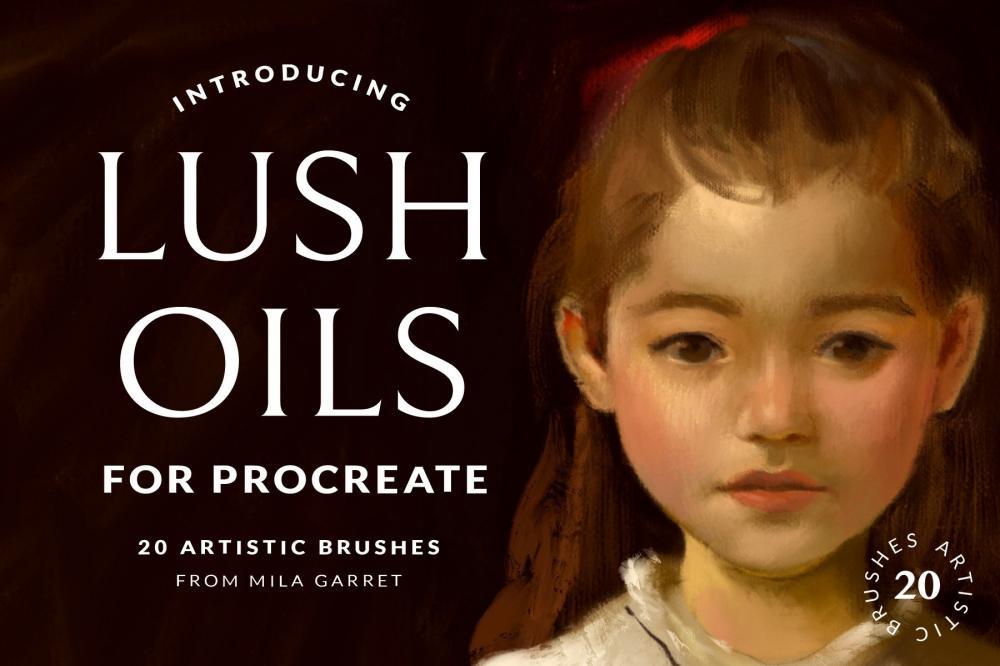 艺术油画Procreate绘画笔刷插图4