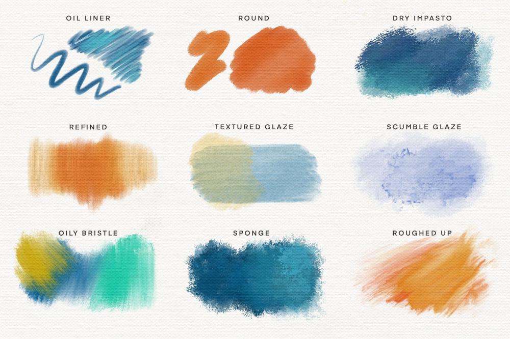 Procreate艺术家油画颜料笔刷 (brushset)插图2
