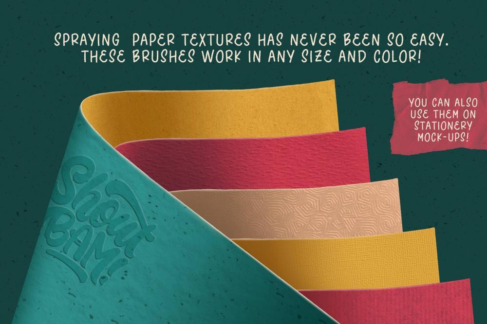 Procreate画布/纸张纹路笔刷布景合集[1.35GB,brushset]插图9