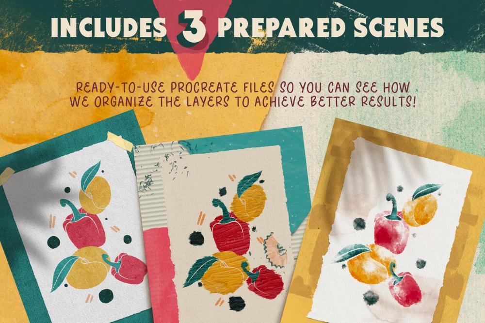 Procreate画布/纸张纹路笔刷布景合集[1.35GB,brushset]插图15