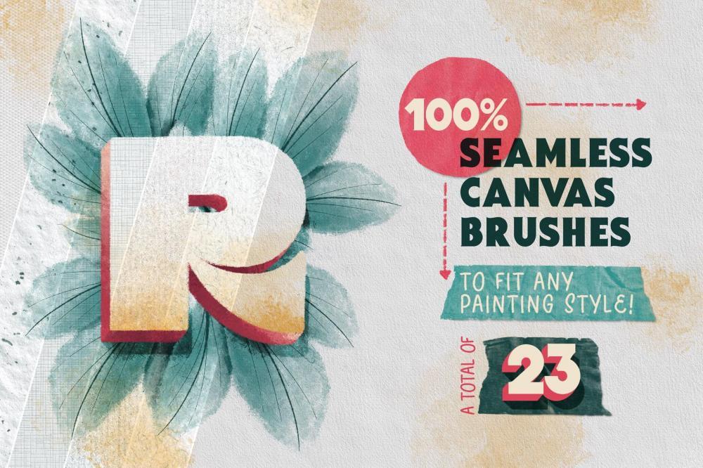 Procreate画布/纸张纹路笔刷布景合集[1.35GB,brushset]插图17