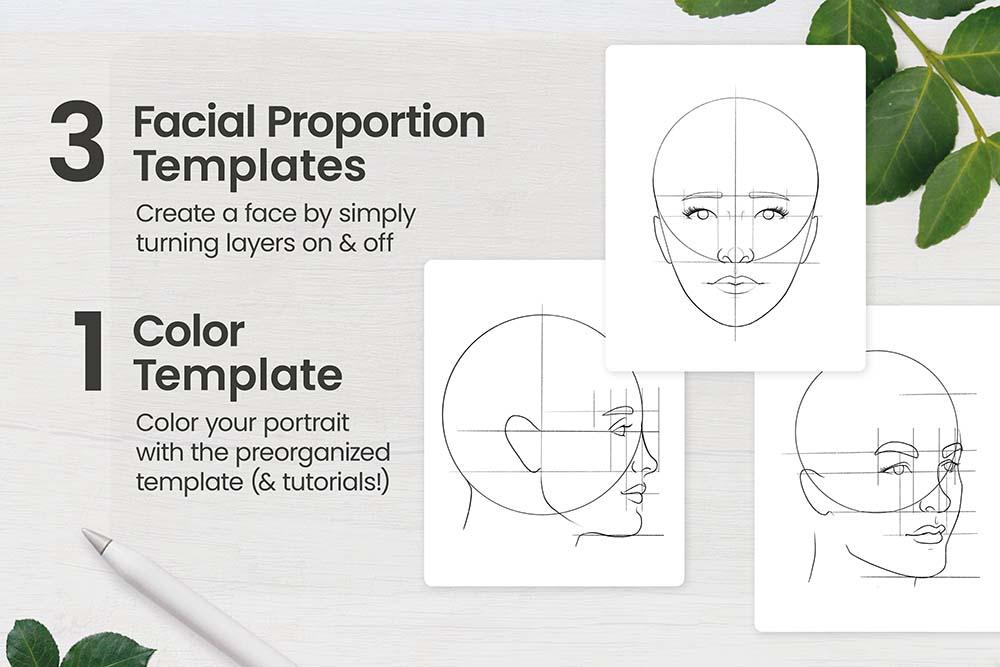人脸肖像制造Procreate笔刷套装 (brushset)插图2
