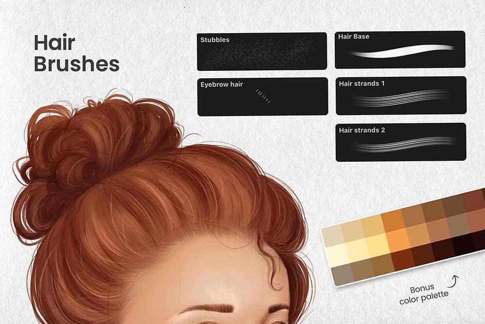 人脸肖像制造Procreate笔刷套装 (brushset)插图5