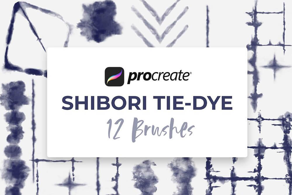 数码扎染画Procreate笔刷素材 (brushset)插图5