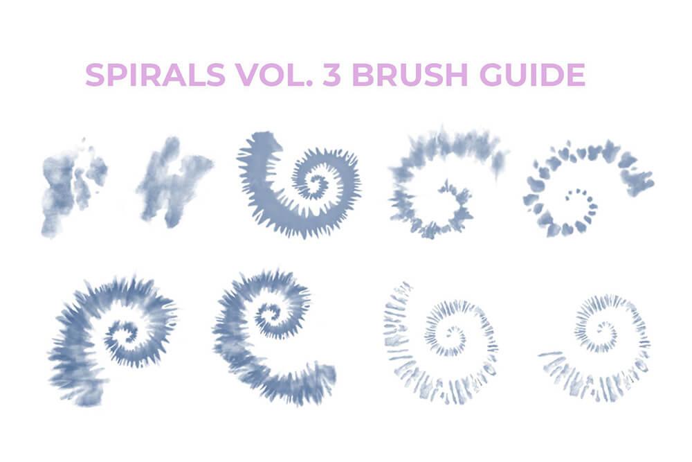 数码扎染画Procreate笔刷素材 (brushset)插图6