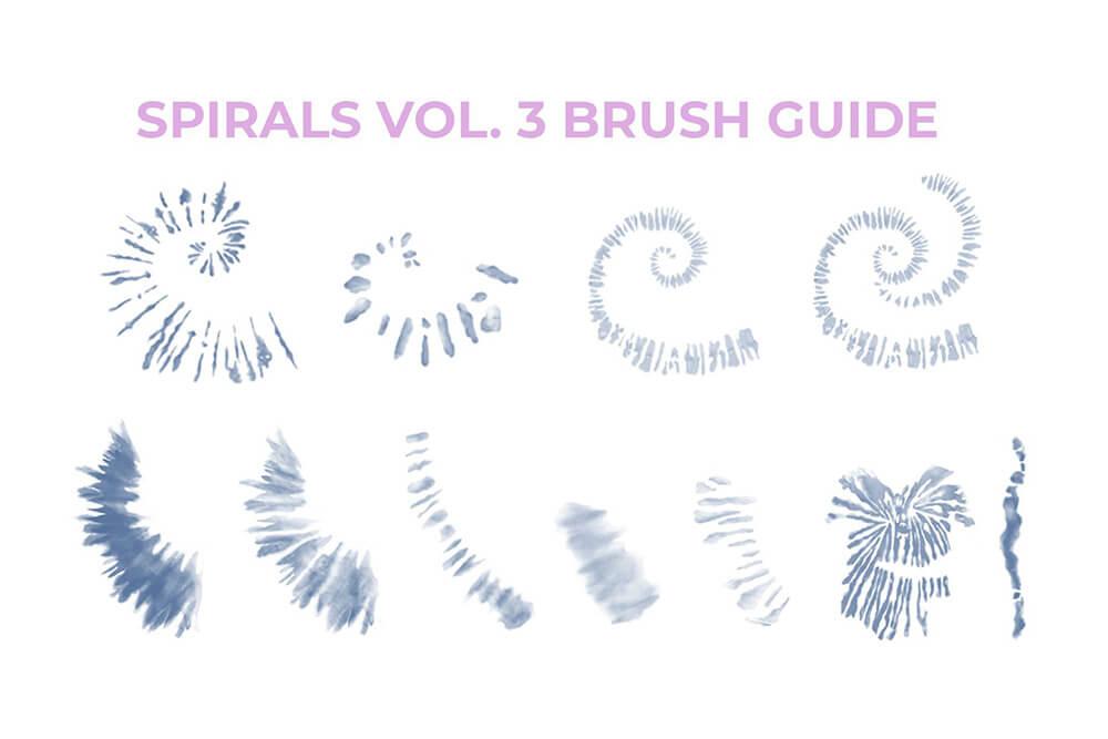 数码扎染画Procreate笔刷素材 (brushset)插图7