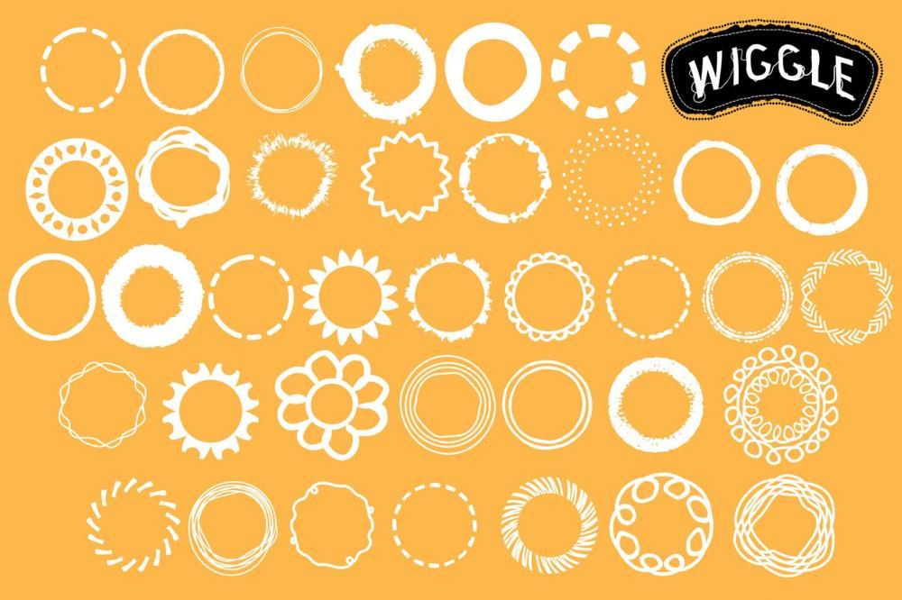时尚高端逼真质感的Wiggle Illustrator 矢量画笔大集合-AI插图2