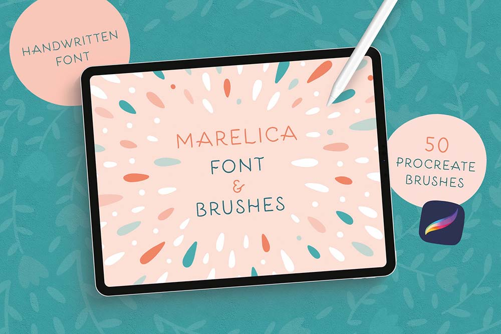Procreate笔刷和字体素材 (PNG,BRUSHSET,WOFF,AI,EPS,OTF)插图19