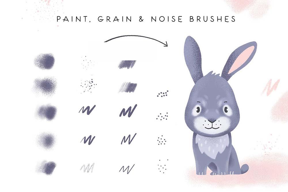 Procreate笔刷和字体素材 (PNG,BRUSHSET,WOFF,AI,EPS,OTF)插图23