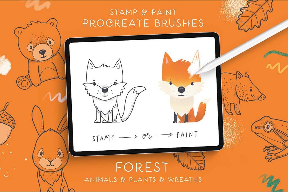 Procreate笔刷和字体素材 (PNG,BRUSHSET,WOFF,AI,EPS,OTF)插图24